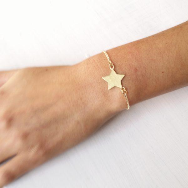 pulsera estrella cadena