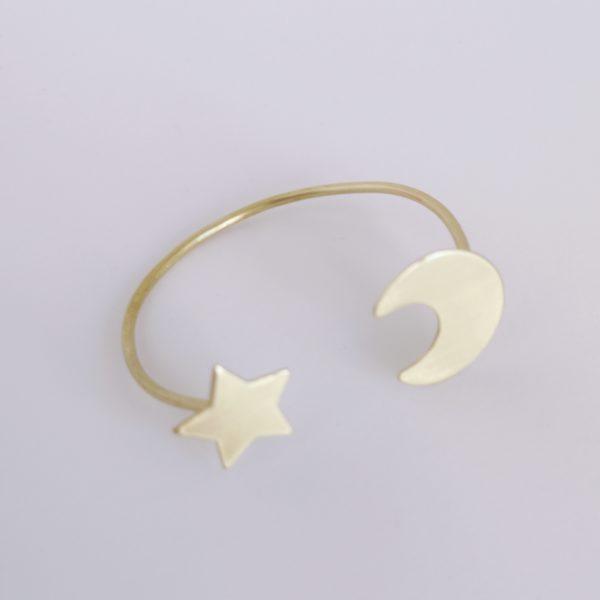 Pulsera estrella bronce