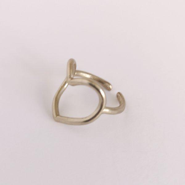 anillo hilo corazon bronce