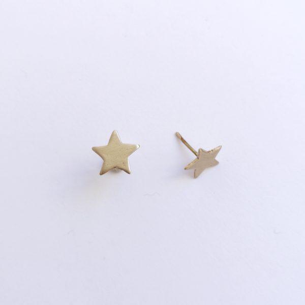 Pendiente pequeño Estrella Bronce