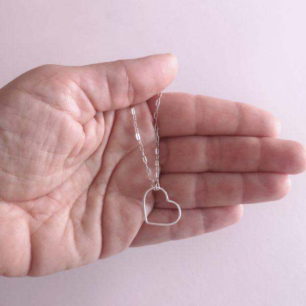 colgante hilo de plata corazon