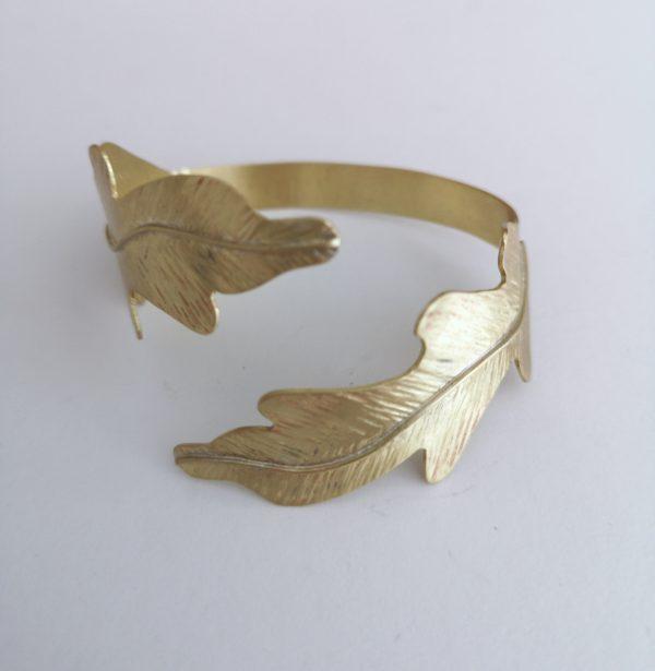 pulsera hoja bronce oak
